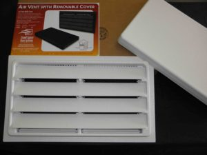 Foundation Air Vent with Removable Cover-white